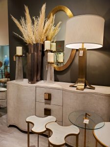 Studio A cabinet with linen texture from Las Vegas Market