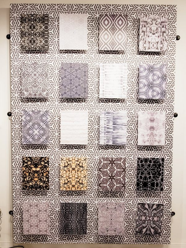 Patterned wallpaper samples. Great option for accent walls and bathrooms.