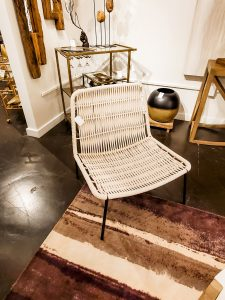 Cyan Designs rope chair brings an organic vibe to a room.