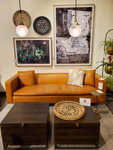 Leather Four Hands sofa vignette