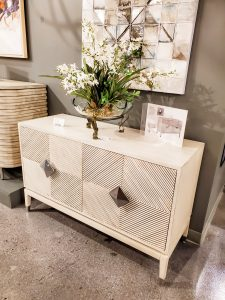 This Yosemite Home textured cabinet would make a great addition to any modern home.