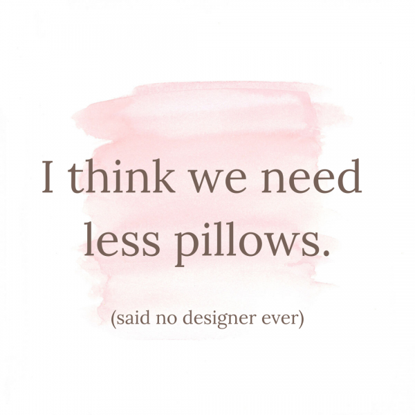Can there ever be enough pillows??? Change up your throw pillows to give your home a refresh.
