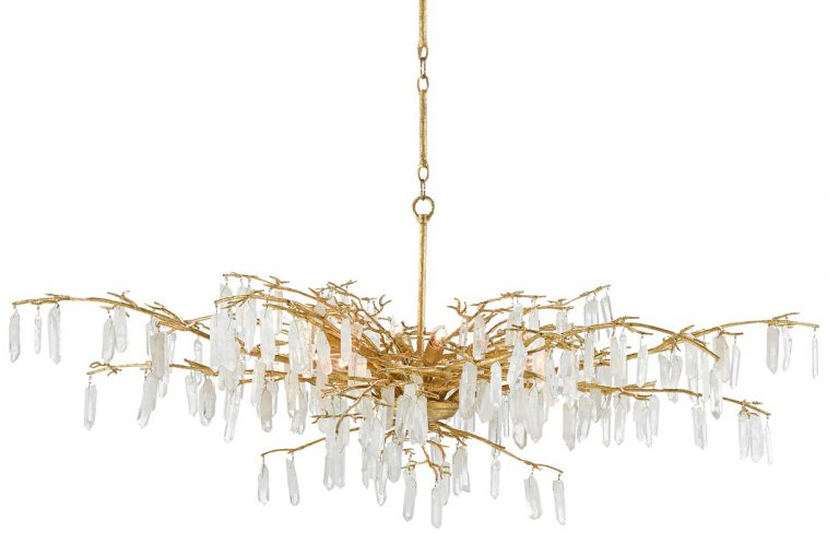 Forest Dawn chandelier from Currey and Company