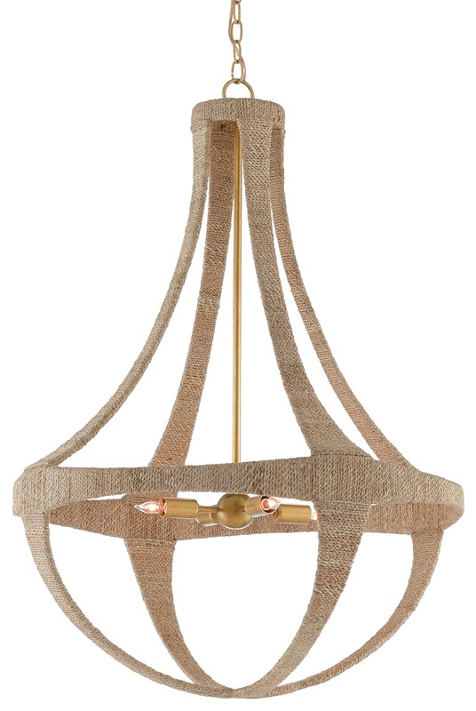 Ibiza chandelier from Currey and Company