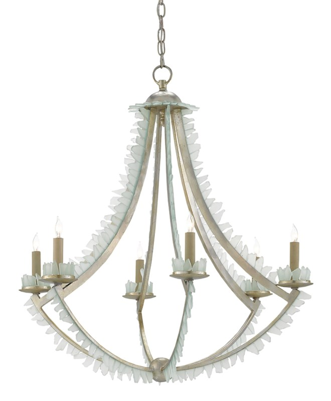 Currey and Company Saltwater chandelier