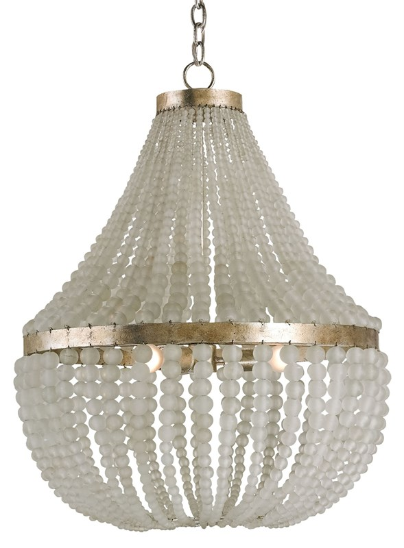 Currey and Company Chanteuse dining room chandelier is perfect for elegant coastal design.