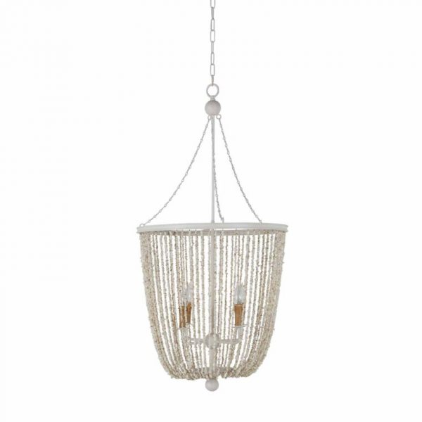 The Jennifer pendant from Gabby Home would look great as a pair in a coastal kitchen or dining area.
