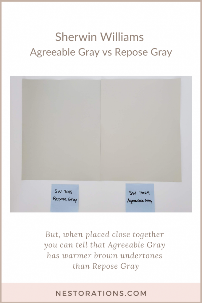 Compare Sherwin Williams Agreeable Gray and Repose Gray-Nestorations
