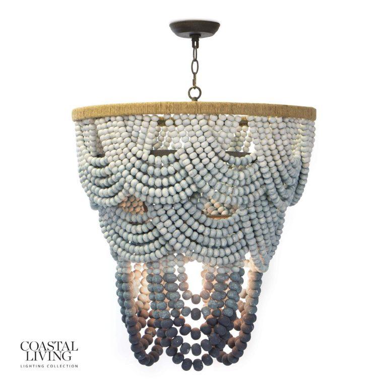 Regina Andrews Wood Ombre chandelier