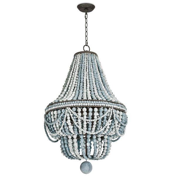 With the name Malibu, how could this chandelier be anything but coastal?  The Malibu chandelier by Regina Andrews.
