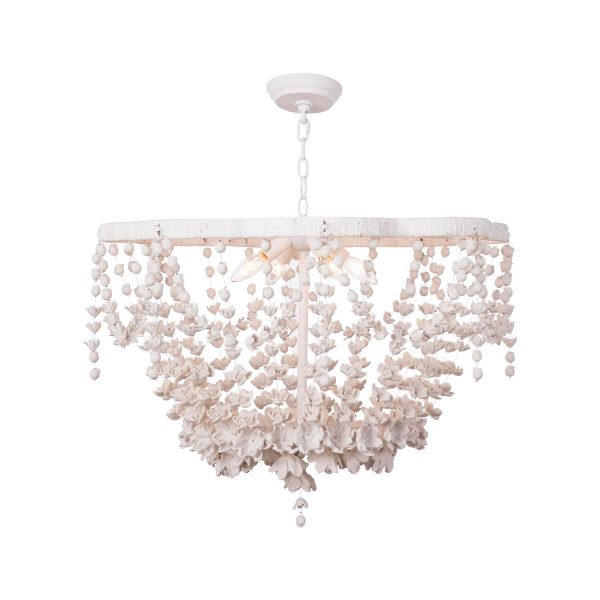 Hundreds of resin flowers drape the Vanessa Basin chandelier by Regina Andrew.  I love the colors and delicate style.  Would look amazing in a bathroom or bedroom.
