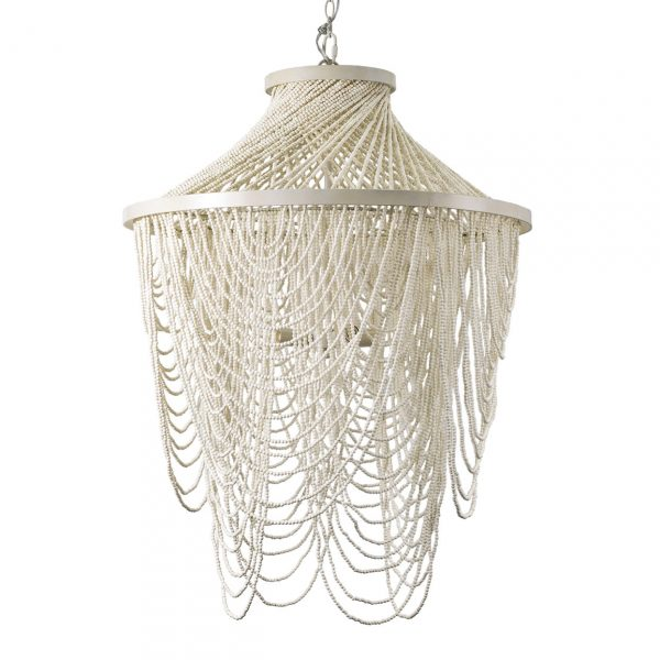 The Palecek Mariana chandelier would be gorgeous in a coastal home.