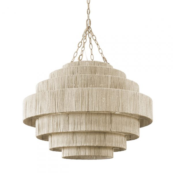 Palecek Everly chandelier. The organic texture is great for coastal style.
