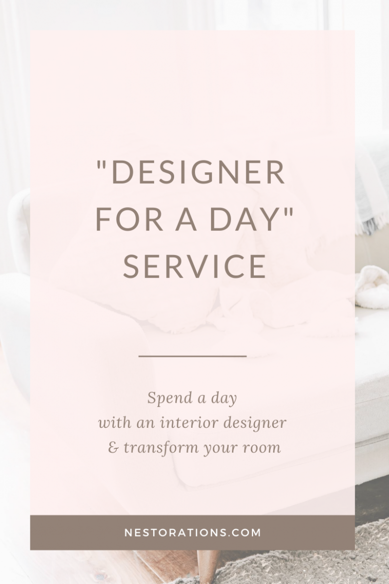Work with an interior designer for a day & transform your room