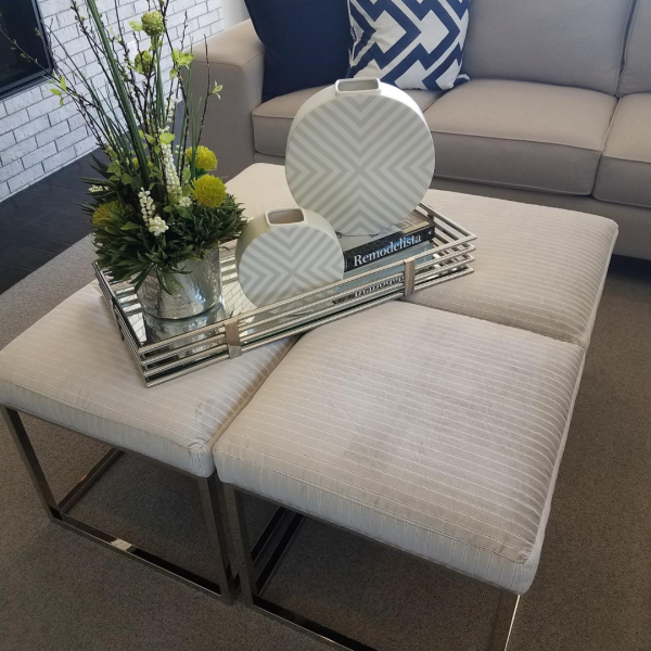 Use four cubes to create a large coffee table