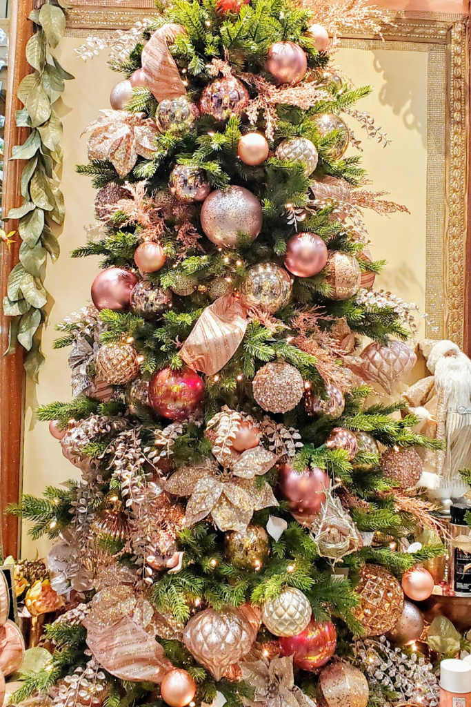 Champagne and pink Christmas Tree