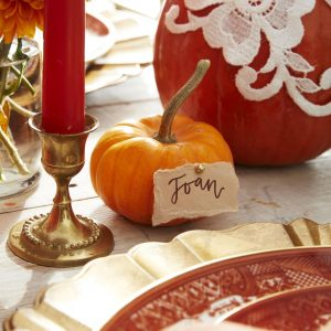 Pumpkin place card holders from Country Living