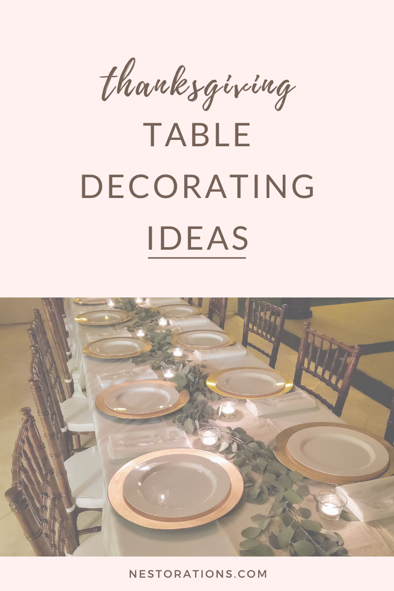 Simple Thanksgiving table decorating ideas