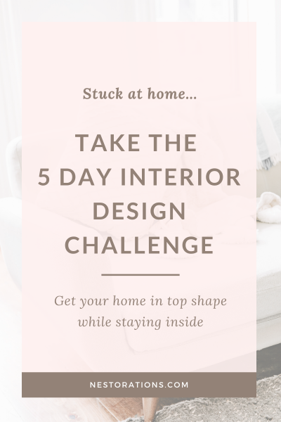 Take the 5 day interior design challenge