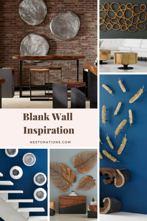 Add decorative objects to your blank wall
