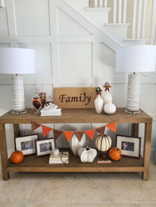 Fall foyer decor ideas