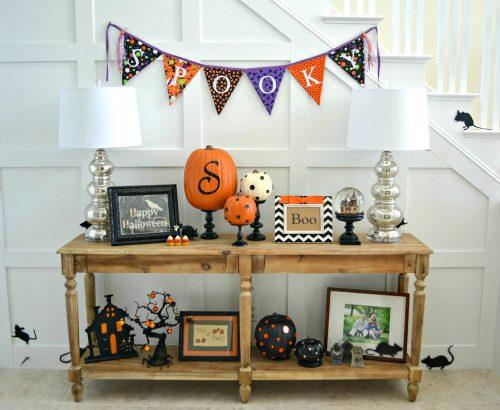 Foyer Halloween Display