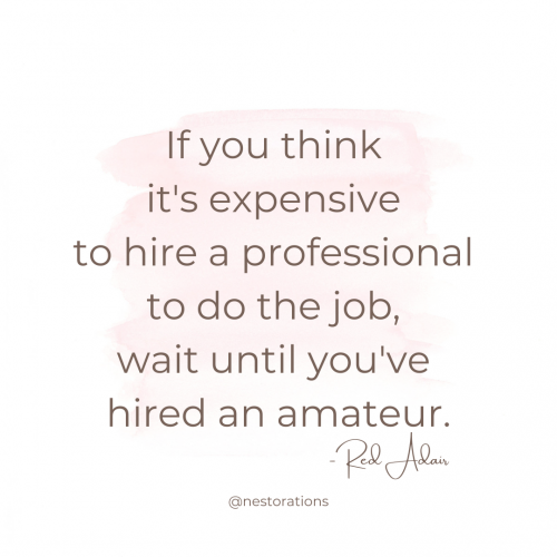 Quote about hiring a professional