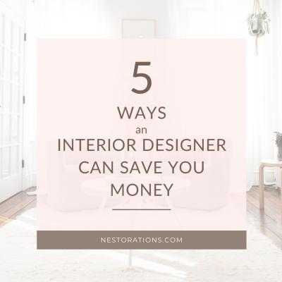 5 ways you save money when hiring an interior designer