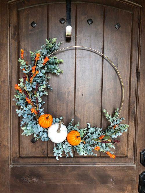 Simple door wreath by Hoops by Rae on Etsy