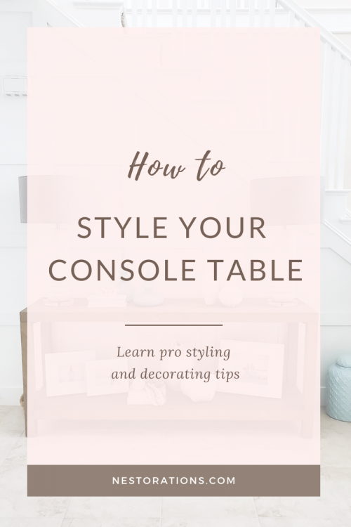 Learn how to style your console table
