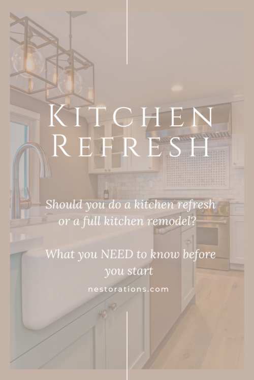 What are the different levels of a kitchen refresh?