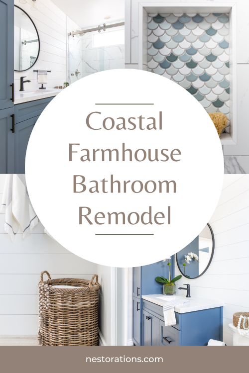 Modern Coastal Farmhouse Bathroom Renovation