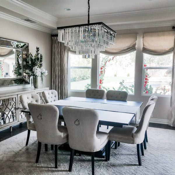 Elegant custom dining room-Design by Sally Soricelli, Nestorations