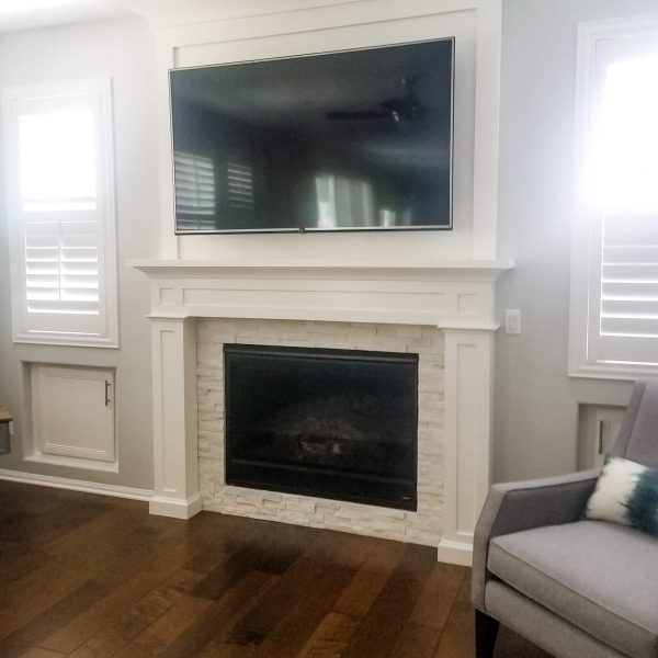 Custom fireplace surround-Design by Sally Soricelli, Nestorations