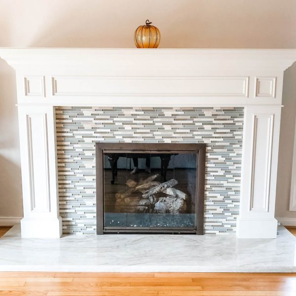 Custom fireplace-Design by Sally Soricelli, Nestorations