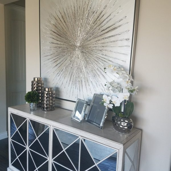 Glamorous foyer style-Design by Sally Soricelli, Nestorations