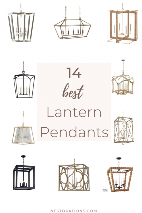 The best lantern pendants and chandeliers for your kitchen and dining room.