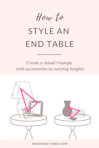 End table styling tips