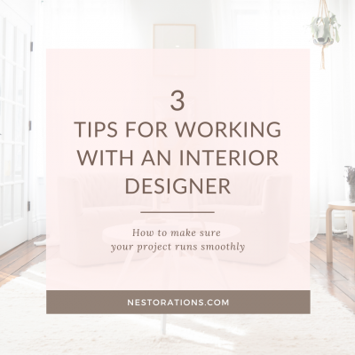 3 tips for working with an interior designer