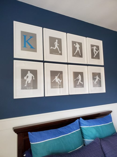 Van Deusen Blue by Benjamin Moore is the right navy paint for this boy's room